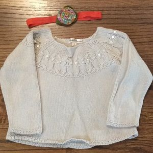 Pearls & Popcorn beautifully knit sweater